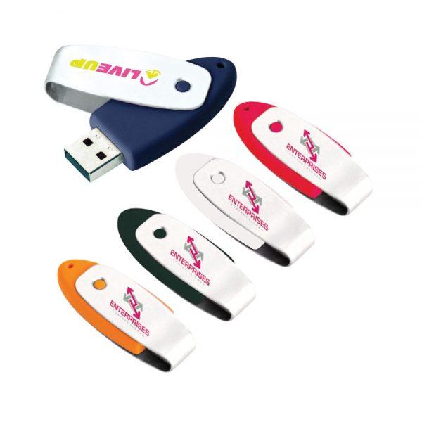 Oval USB 2.0 Flash Drive - 1GB