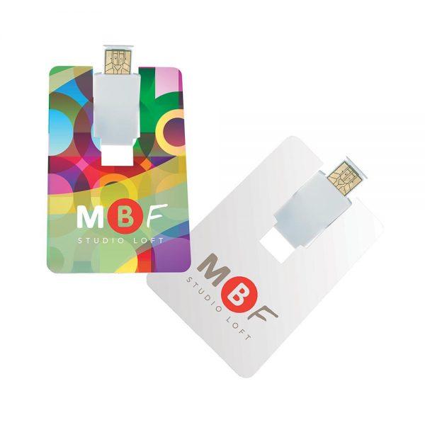Flip Card USB 2.0 Flash Drive - 1GB