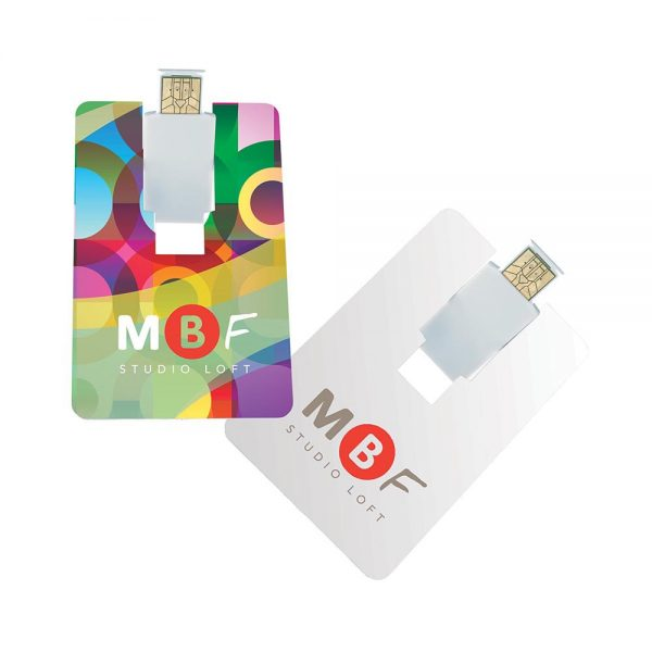 Flip Card USB 2.0 Flash Drive - 4GB